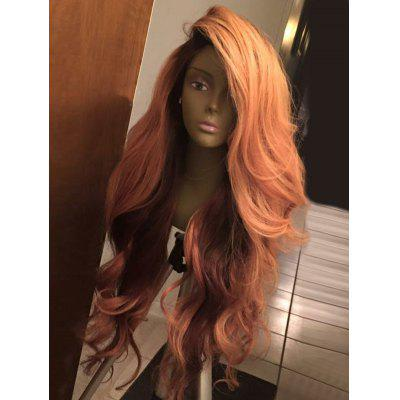 Long Deep Side Part Shaggy Layered Wavy Synthetic Wig