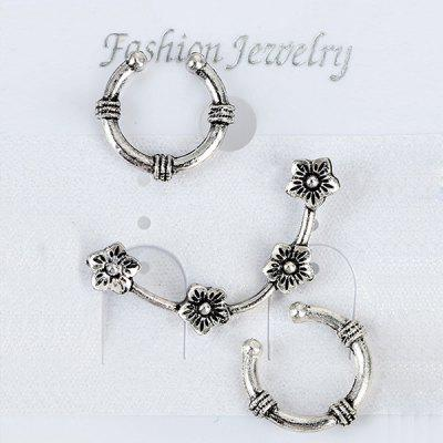 Two Horseshoe Ear Cuffs with Wintersweet Ear Climber