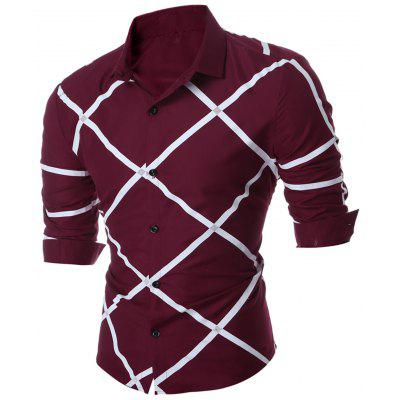 Geometric Pattern Long Sleeve Shirt