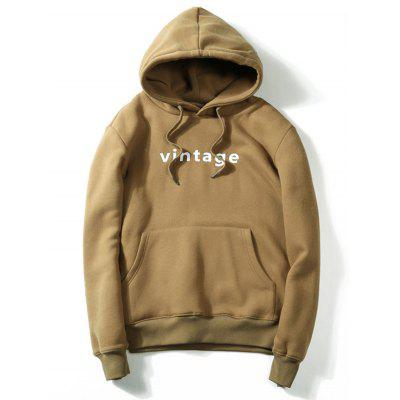 Buy KHAKI 3XL Drawstring Graphic Print Hoodie for $31.40 in GearBest store