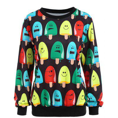 Popsicle Print Long Sleeve Sweatshirt
