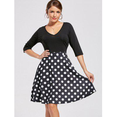 V-neck High Waist Printed DressWomens Dresses<br>V-neck High Waist Printed Dress<br><br>Dress Type: Fit and Flare Dress<br>Dresses Length: Knee-Length<br>Material: Polyester, Spandex<br>Neckline: V-Neck<br>Package Contents: 1 x Dress<br>Pattern Type: Others<br>Season: Fall<br>Silhouette: A-Line<br>Sleeve Length: Half Sleeves<br>Style: Casual<br>Weight: 0.4500kg<br>With Belt: No