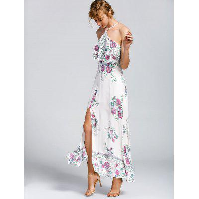 Overlay Floral High Cut Halter Maxi DressMaxi Dresses<br>Overlay Floral High Cut Halter Maxi Dress<br><br>Dresses Length: Ankle-Length<br>Embellishment: Hollow Out<br>Material: Cotton, Polyester<br>Neckline: Halter<br>Occasion: Beach and Summer, Casual , Going Out<br>Package Contents: 1 x Dress<br>Pattern Type: Floral<br>Season: Summer<br>Sleeve Length: Sleeveless<br>Weight: 0.3300kg<br>With Belt: No
