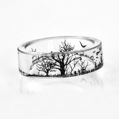 Tree of Life Bat Transparent Resin Ring