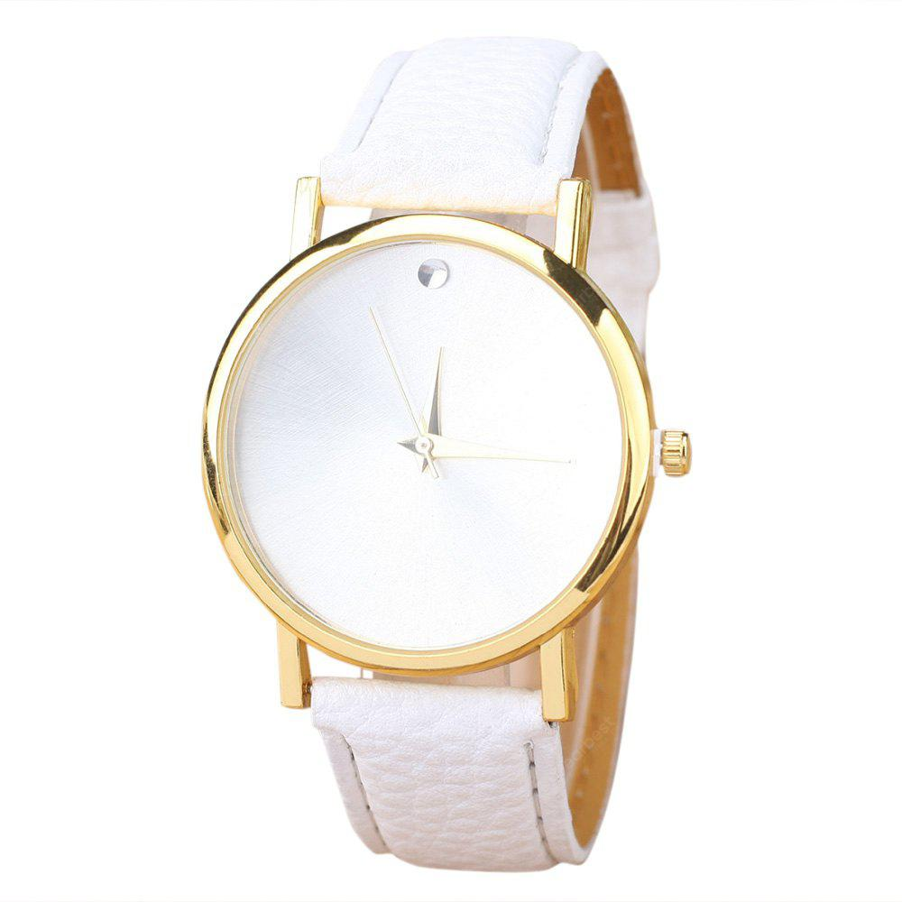 Minimalist Faux Leather Strap Watch