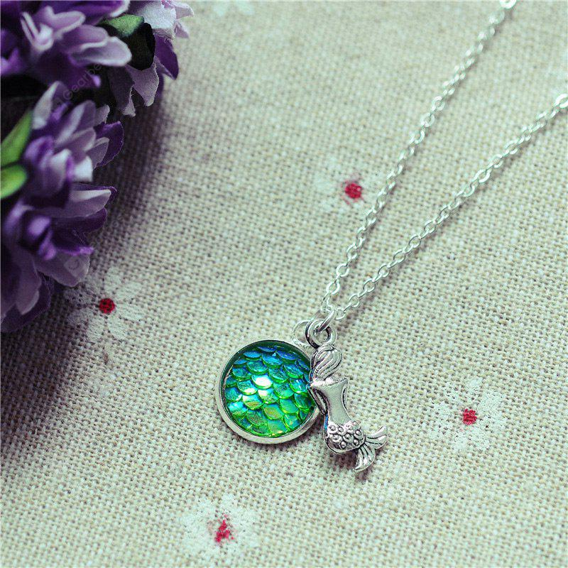 Mermaid Sparkly Scales Pendant Necklace