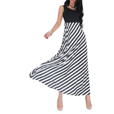 Striped Empire Waist Sleeveless Maxi DressMaxi Dresses<br>Striped Empire Waist Sleeveless Maxi Dress<br><br>Dresses Length: Floor-Length<br>Material: Cotton, Polyester<br>Neckline: Round Collar<br>Package Contents: 1 x Dress<br>Pattern Type: Striped<br>Season: Fall, Spring, Summer<br>Silhouette: A-Line<br>Sleeve Length: Sleeveless<br>Style: Elegant<br>Weight: 0.3500kg<br>With Belt: No