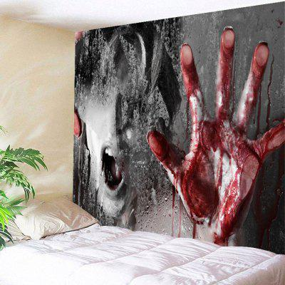 Buy COLORMIX Terrible Murder Scene Halloween Wall Hanging Tapestry for $13.66 in GearBest store