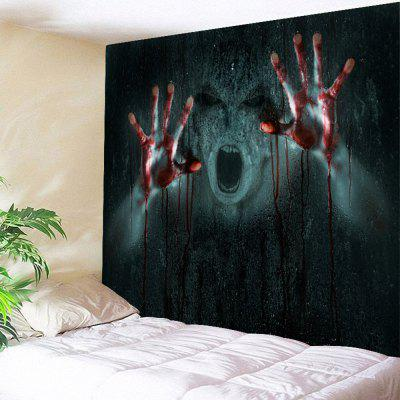 Buy BLACK 3D Horrible Pattern Halloween Wall Hanging Tapestry for $15.65 in GearBest store