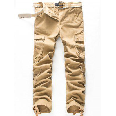 Zip Fly Button Flap Pockets Cargo Pants