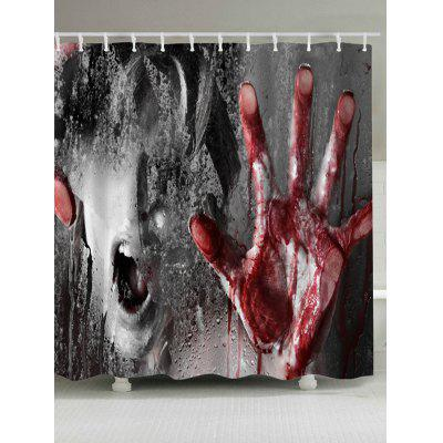 Buy COLORMIX Horrible Murder Scene Pattern Waterproof Halloween Shower Curtain for $18.32 in GearBest store