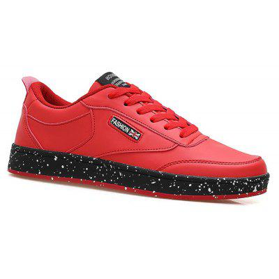 Buy RED Flag Letter Paint Splatter Sole Sneakers for $36.29 in GearBest store