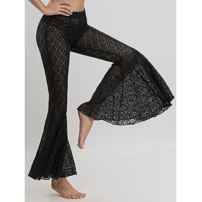 Lace Cover Up Flare Pants