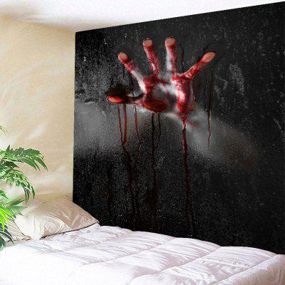 3D Terrorist Blood Hand Print Halloween Wall Hanging Tapestry