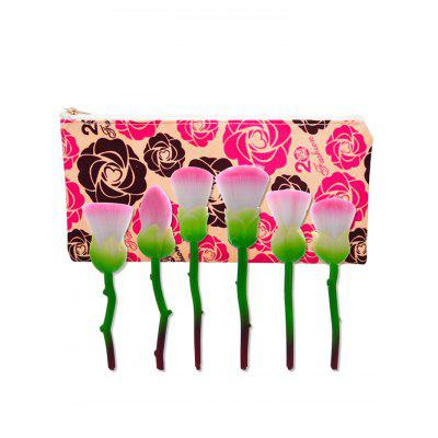 6Pcs Rose Design Makeup Brushes Set With Floral BagMakeup Brushes &amp; Tools<br>6Pcs Rose Design Makeup Brushes Set With Floral Bag<br><br>Brush Hair Material: Nylon<br>Category: Makeup Brushes Set<br>Features: Limits Bacteria<br>Package Contents: 6 x Brushes ( Pcs ) 1 x Makeup Bag<br>Season: Fall, Spring, Summer, Winter<br>Weight: 0.1800kg