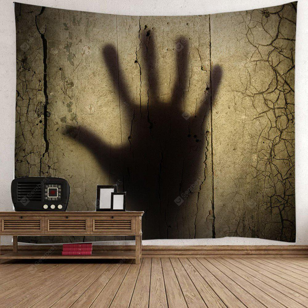 Gloomy Palm Shadow Print Halloween Wall Hanging Tapestry