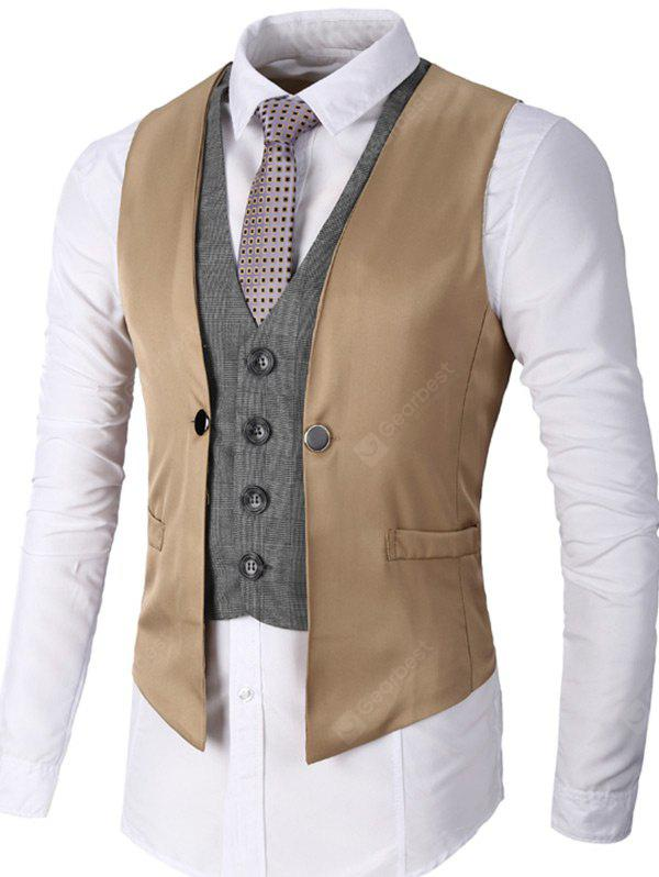 Single Breasted Faux Twinset Waistcoat