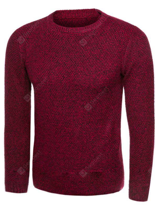 Crew Neck Knit Blends Long Sleeve Sweater
