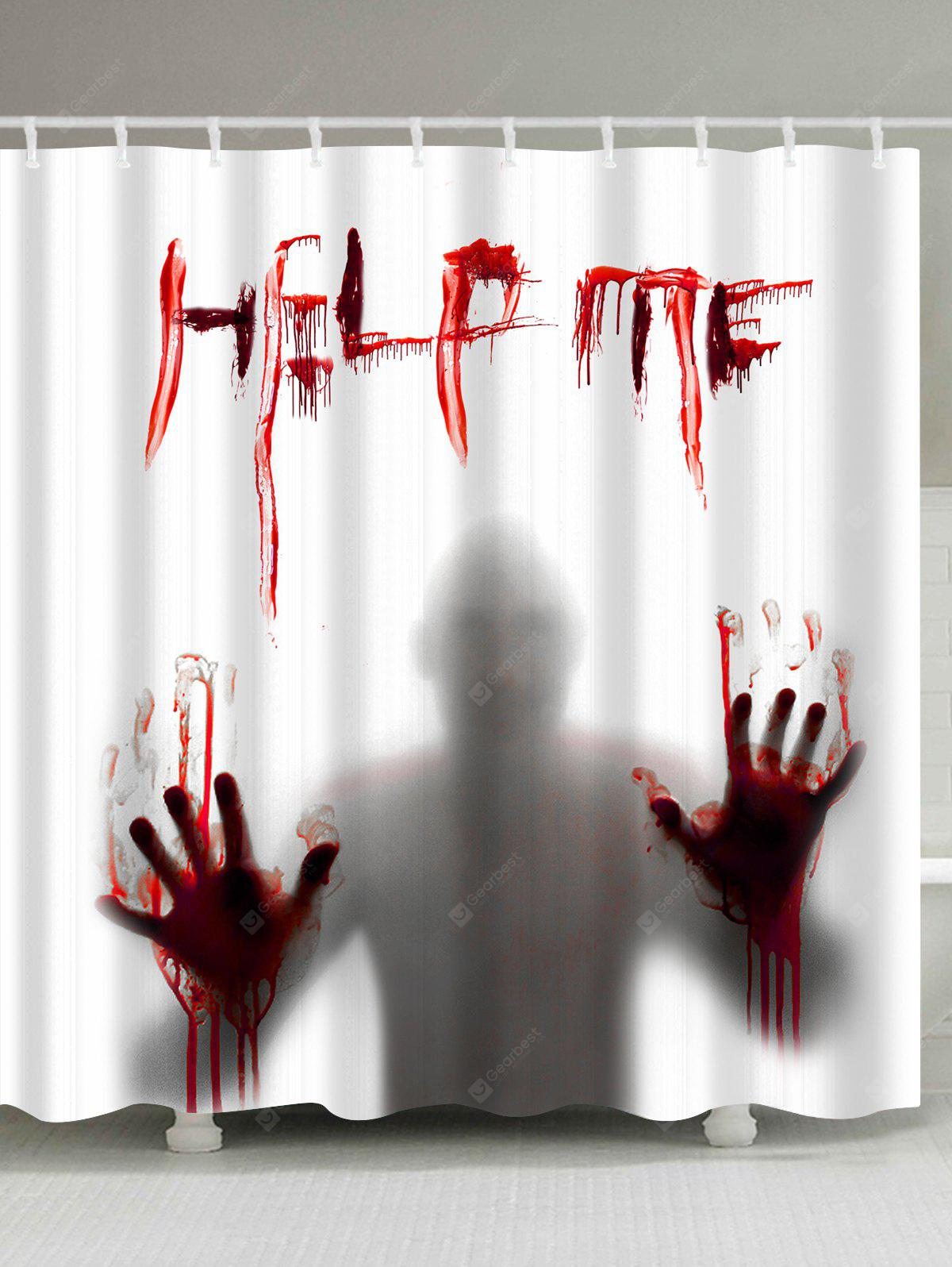 Gothic Help Me Shadow Halloween Shower Curtain