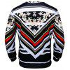 Crew Neck Chain and Floral Print Sweatshirt - COLORMIX