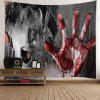 Terrible Murder Scene Halloween Wall Hanging Tapestry - COLORMIX