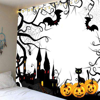 Buy COLORFUL Halloween Pumpkin Castle Waterproof Tapestry for $12.27 in GearBest store