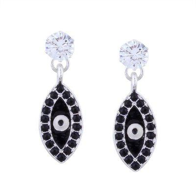 Rhinestone Devil Eye Drop Earrings