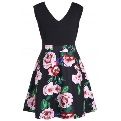 V Neck Floral Print Sleeveless Flare DressWomens Dresses<br>V Neck Floral Print Sleeveless Flare Dress<br><br>Dresses Length: Mini<br>Elasticity: Elastic<br>Material: Polyester, Spandex<br>Neckline: V-Neck<br>Package Contents: 1 x Dress<br>Pattern Type: Print, Floral<br>Placement Print: No<br>Season: Summer<br>Silhouette: A-Line<br>Sleeve Length: Sleeveless<br>Style: Casual<br>Weight: 0.3000kg<br>With Belt: No