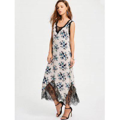 Floral Stripes Lace Trim Maxi DressMaxi Dresses<br>Floral Stripes Lace Trim Maxi Dress<br><br>Dresses Length: Ankle-Length<br>Embellishment: Lace<br>Material: Cotton, Polyester<br>Neckline: V-Neck<br>Occasion: Casual, Going Out<br>Package Contents: 1 x Dress<br>Pattern Type: Floral<br>Season: Summer<br>Sleeve Length: Sleeveless<br>Weight: 0.2500kg<br>With Belt: No
