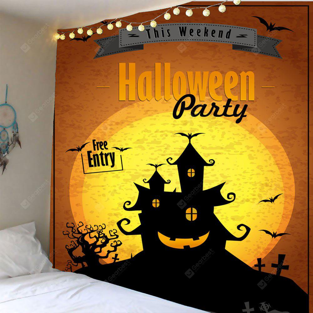 COLORFUL Halloween Party Horrible Castle Waterproof Wall Tapestry