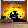 Halloween Party Horrible Castle Waterproof Wall Tapestry - COLORFUL