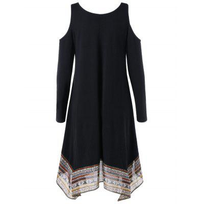 Cold Shoulder Handkerchief DressLong Sleeve Dresses<br>Cold Shoulder Handkerchief Dress<br><br>Dresses Length: Knee-Length<br>Material: Polyester, Spandex<br>Neckline: V-Neck<br>Occasion: Going Out, Casual , Club<br>Package Contents: 1 x Dress<br>Pattern Type: Tribal Print<br>Season: Fall, Spring, Summer<br>Silhouette: A-Line<br>Sleeve Length: Long Sleeves<br>Style: Casual<br>Weight: 0.3400kg<br>With Belt: No