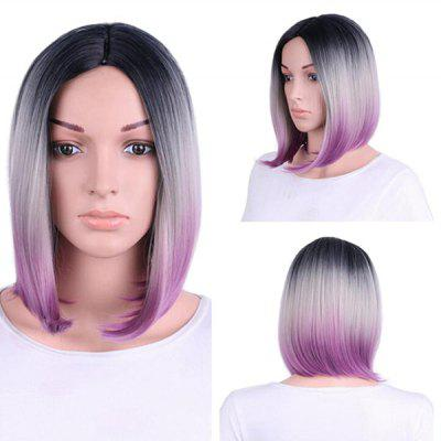 Buy COLORMIX Short Middle Part Colormix Straight Bob Synthetic Wig for $23.03 in GearBest store