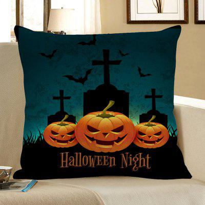 Buy COLORFUL Halloween Pumpkin Tombstone Pattern Pillow Case for $4.56 in GearBest store