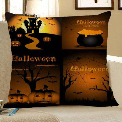 Buy COLORMIX Halloween Pumpkin Bat Printed Pillow Case for $4.56 in GearBest store