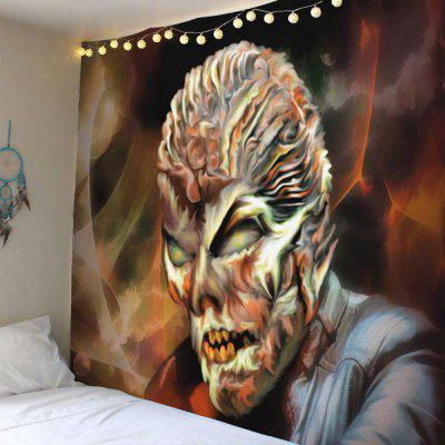 Buy COLORMIX Terrible Skeleton Printed Halloween Waterproof Wall Tapestry for $14.44 in GearBest store