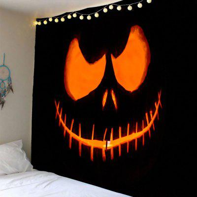 Buy YELLOW Halloween Smiling Face Ghost Waterproof Tapestry for $14.17 in GearBest store
