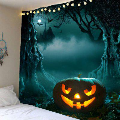 Buy GRAY Halloween Moon Pumpkin Cave Waterproof Tapestry for $12.27 in GearBest store