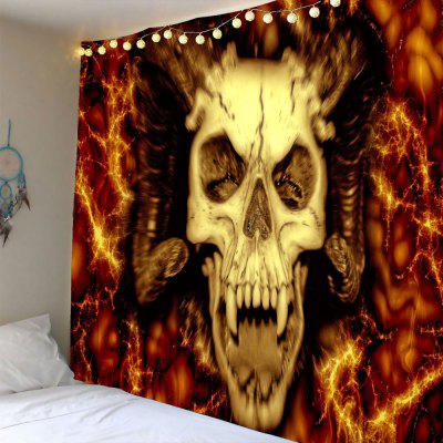 Halloween Devil Skull Waterproof Wall Tapestry