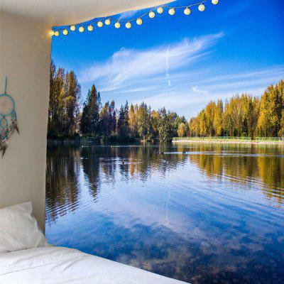 Lake Forest Sky Waterproof Wall Tapestry