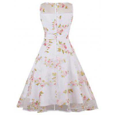 Floral Print Organza Skater DressWomens Dresses<br>Floral Print Organza Skater Dress<br><br>Dress Type: Fit and Flare Dress,Skater Dress<br>Dresses Length: Knee-Length<br>Material: Polyester<br>Neckline: Round Collar<br>Package Contents: 1 x Dress<br>Pattern Type: Floral<br>Season: Fall, Spring, Summer<br>Silhouette: A-Line<br>Sleeve Length: Sleeveless<br>Style: Vintage<br>Weight: 0.3200kg<br>With Belt: No