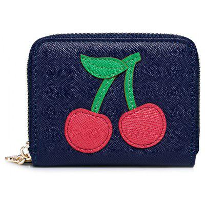 Fruit Pattern Faux Leather Small Wallet