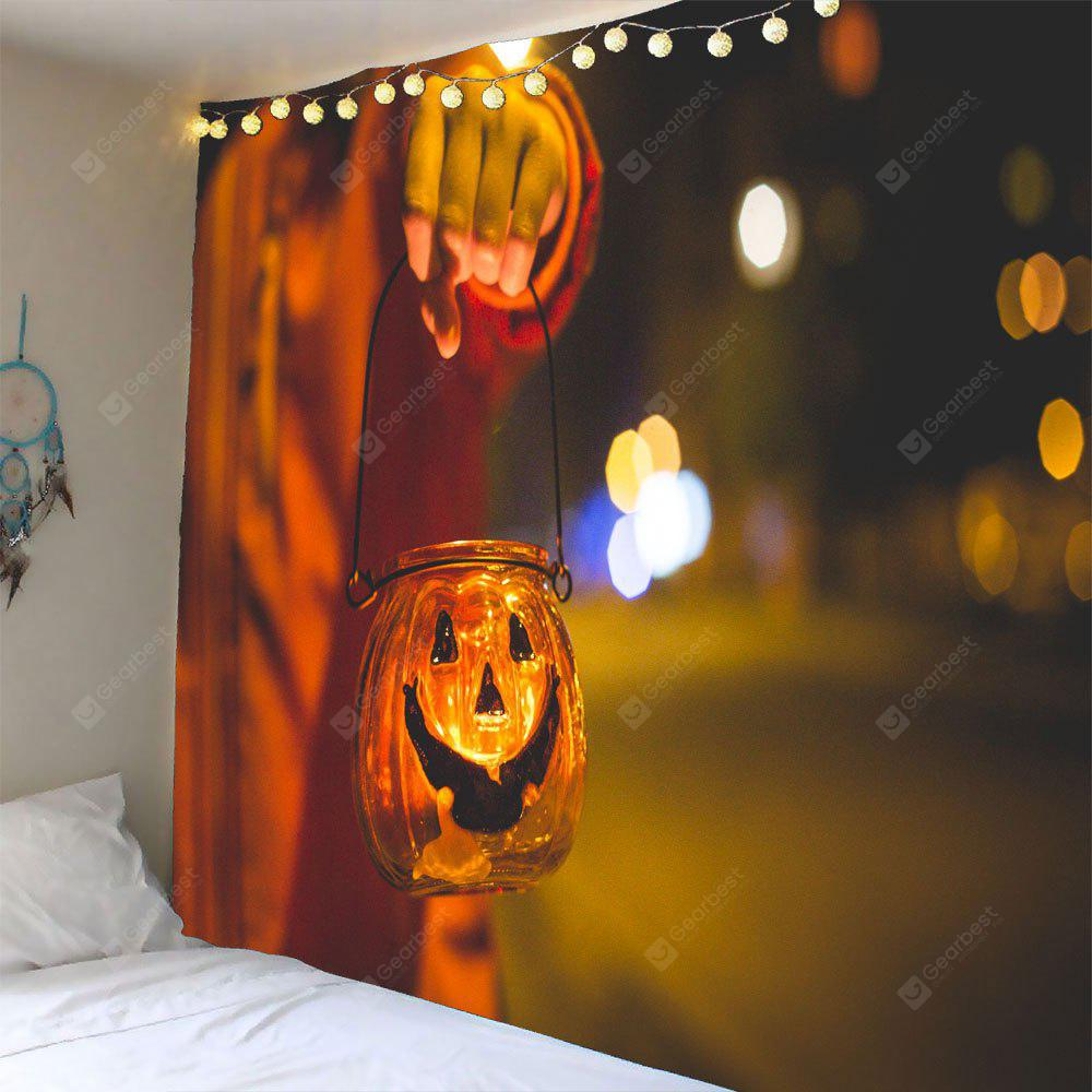 Halloween Smiling Face Candlestick Waterproof Tapestry