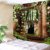 Floral Arched Door Wall Art Hanging Tapestry - COLORMIX