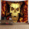 Halloween Devil Skull Waterproof Wall Tapestry - PEARL ORANGE