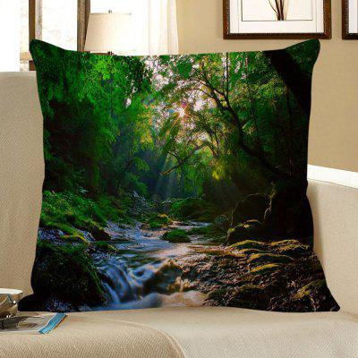 Mountain Stream Printed Decorative Pillow Case