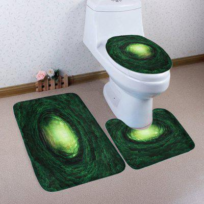 Buy DEEP GREEN 3 Pieces Fairy Tree Hole Non-slip Toilet Mats Set for $17.85 in GearBest store