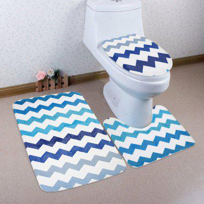Buy COLORMIX 3Pcs Chevron Pattern Non Slip Toilet Mats Set for $17.53 in GearBest store