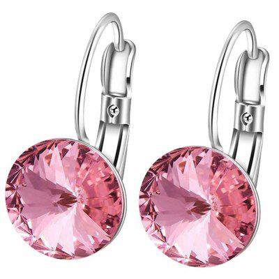 Artificial Diamond Drop Clip Earrings