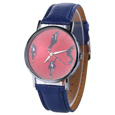 Michael Jackson Pattern Faux Leather Watch